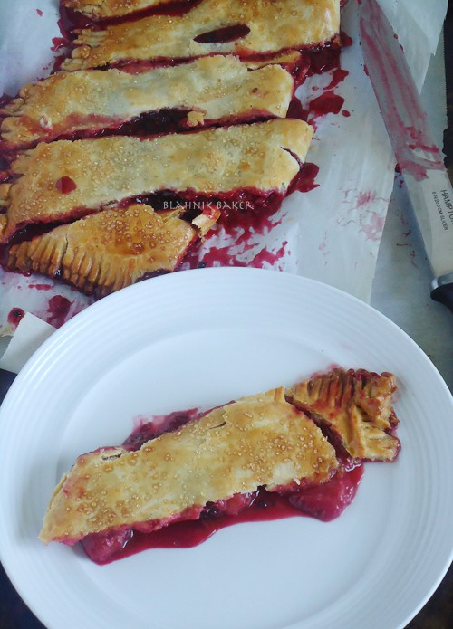 Slab Berry pie