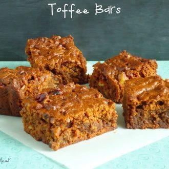 Chewy toffee bars via blahnik baker
