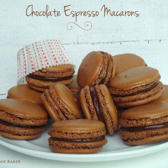 Chocolate macarons Blahnikbaker
