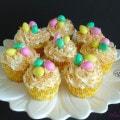Coconut nest cupcakes