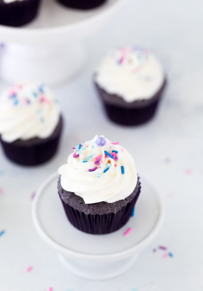Purple velvet cupcakes are a deliciously fun twist on red velvet cake. Rich and chocolaty, with a beautiful purple hue, they're perfect for any celebration.