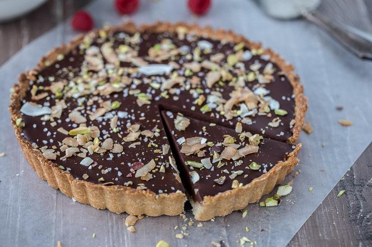 Chocolate Coconut Tart