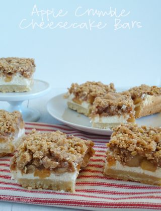 apple crumble cheesecake bars