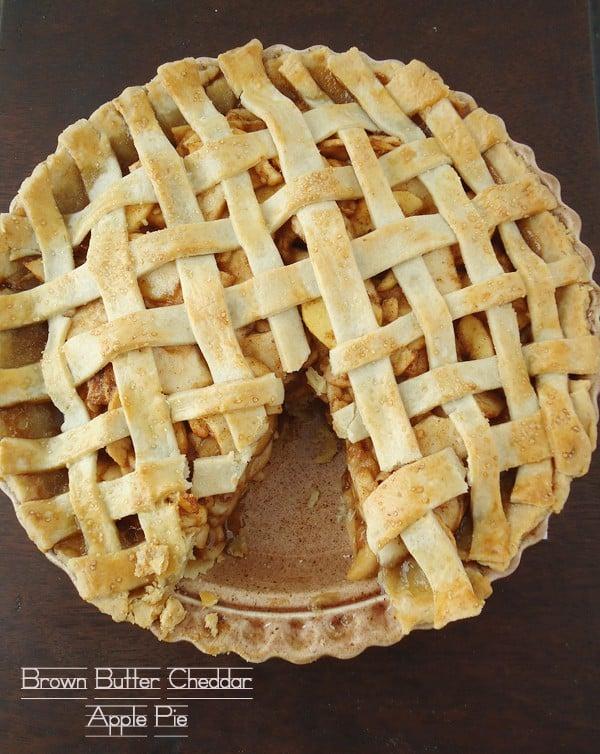 Brown Butter Cheddar Apple Pie