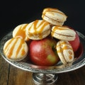 Salted Caramel Spiced Apple Macarons