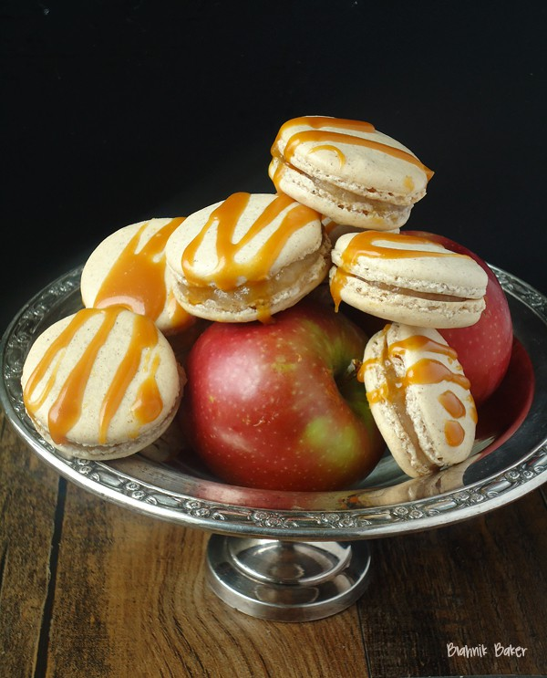 Salted Caramel Spiced Apple Macarons