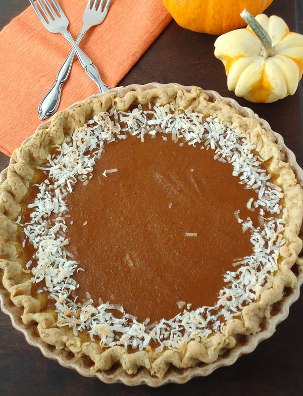 pumpkin coconut pie