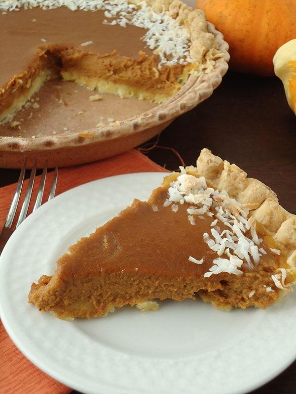 pumpkin coconut pie