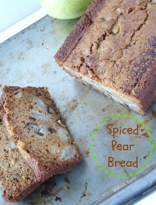 spiced pear bread