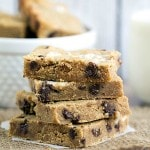 Chocolate Chip Peanut Butter Marshmallow Bars {Guest Post by This Gal Cooks}
