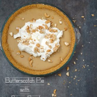 Butterscotch pie with curry crust