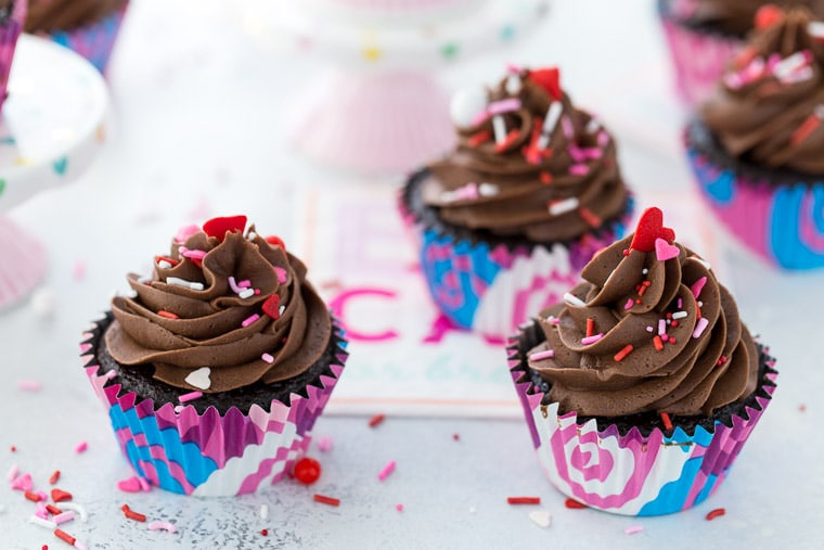 These moist and decadent chocolate cupcakes with perfect chocolate buttercream are the only go-to chocolate recipe you will need in your recipe box.