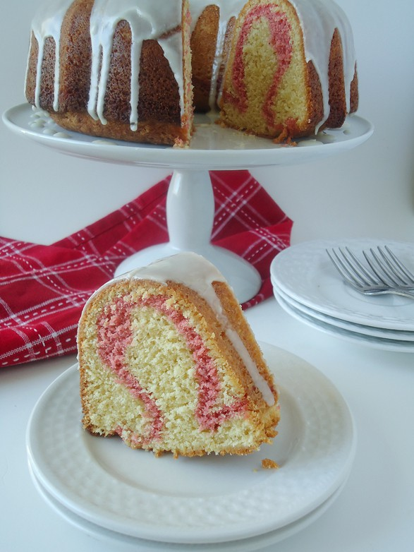 Cranberry Ribbon Eggnog Bundt Cake - A delicious and easy bundt cake recipe, perfect for holiday baking! #ad | BlahnikBaker.com