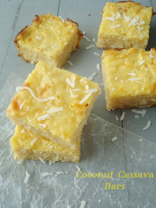 coconut cassava bars - A gluten free dessert recipe from Blahnik Baker