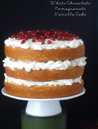 White Chocolate Pomegranate Cake