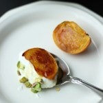 Roasted Persimmons with Greek Yogurt and Pistachios
