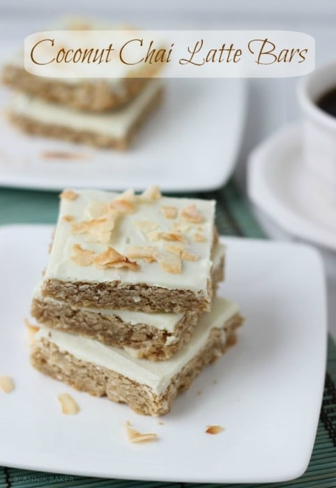 Coconut Chai Latte Bars