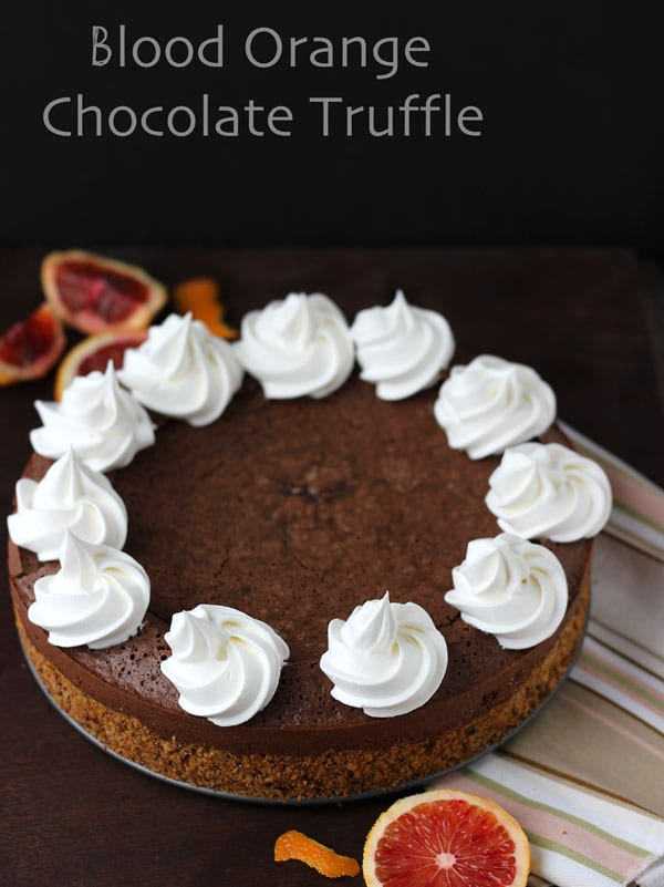 blood orange chocolate truffle torte