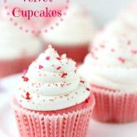 Pink velvet cupcakes start with soft, tender buttermilk cake. It's topped with a tangy cream cheese frosting, giving you a delicious pink velvet cupcake, perfect for your Valentine! BlahnikBaker.com