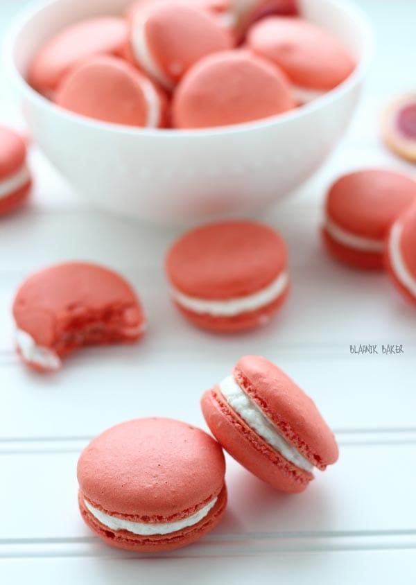 Blood Orange Walnut Macarons