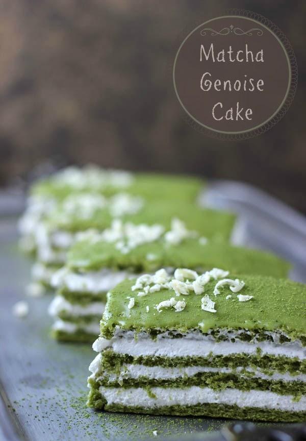 Matcha Genoise Cake