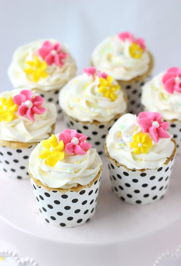 These vanilla anise cupcakes are moist and fluffy with a delicate combination of vanilla-almond cupcakes topped with whipped anise buttercream.