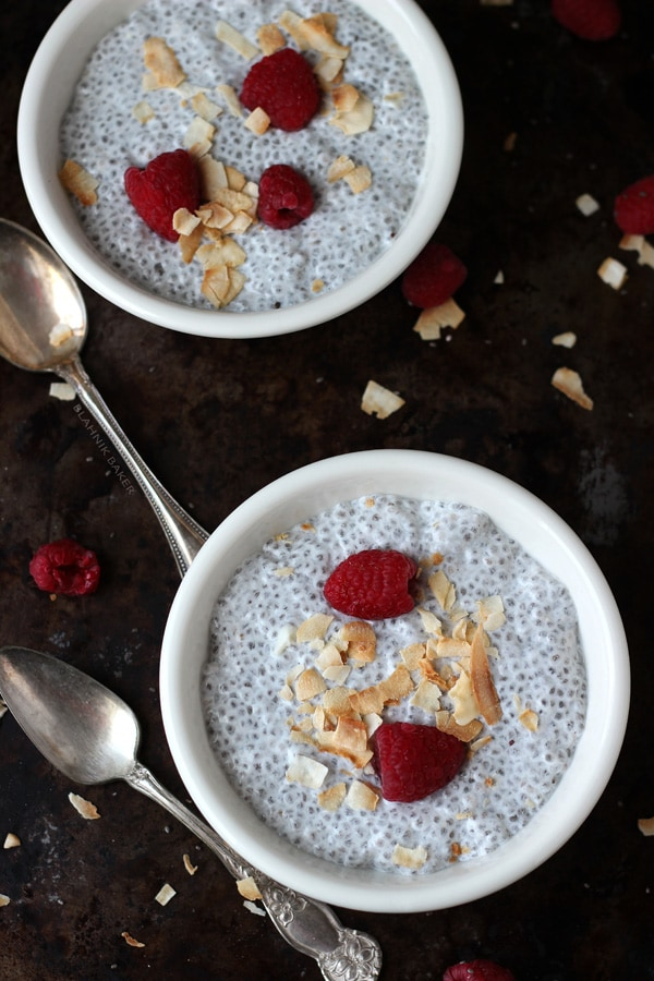This creamy coconut vanilla chia pudding is a quick, flavorful and a ...