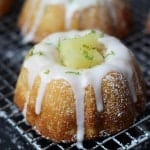 Mini Pineapple Lime Mojito Cakes