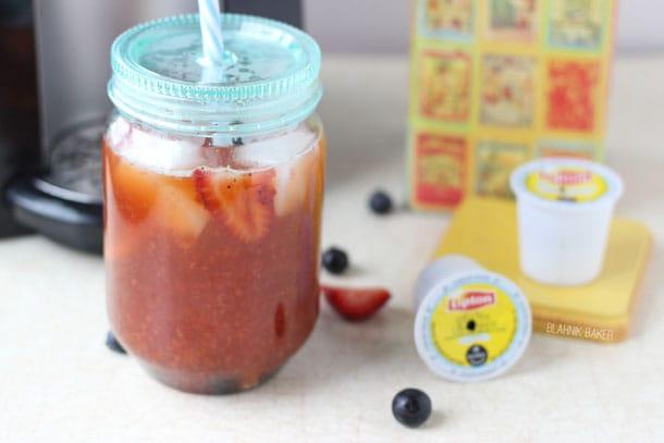 Strawberry Blueberry Iced Tea Lemonade