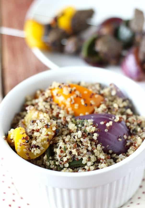 Grilled Vegetable Quinoa Salad - Blahnik Baker