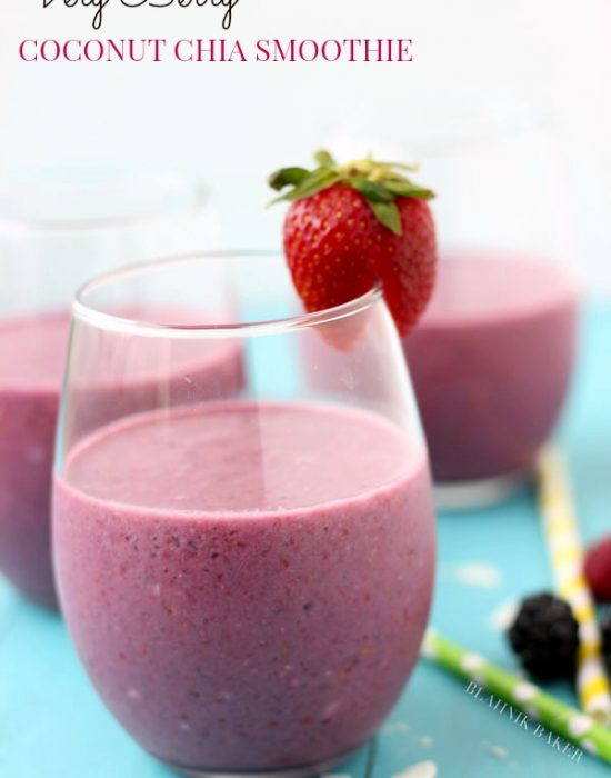 very berry coconut chia smoothie