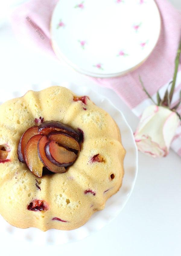 Apricot Rose Pound Cake