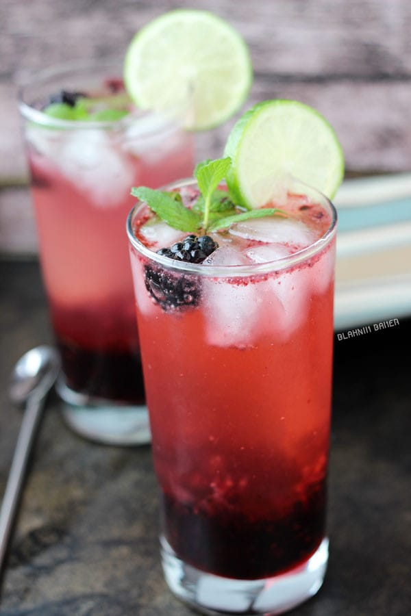 Blackberry Lime Mojitos