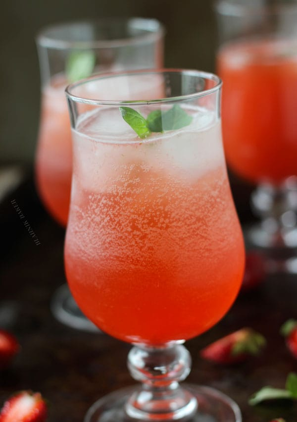 ... be without this Strawberry Basil Sparkler – so refreshingly good
