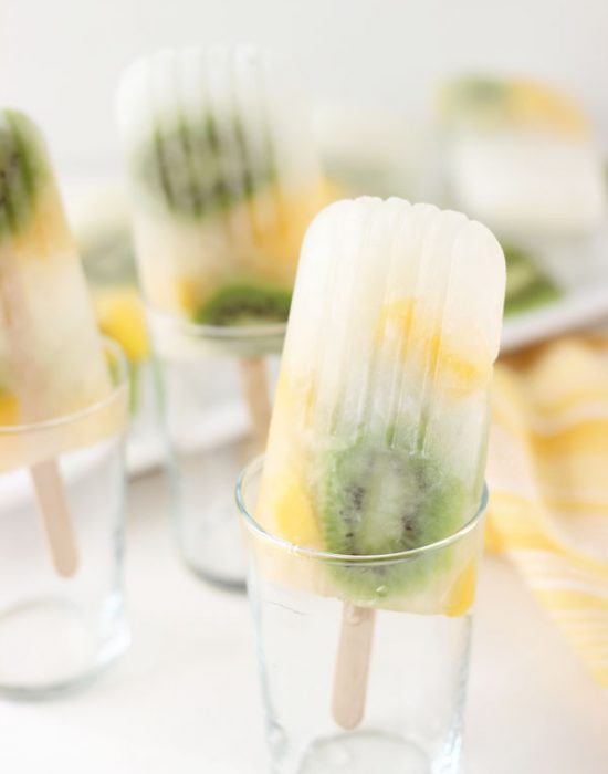 Mango kiwi lemonade popsicles