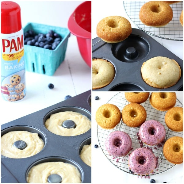 Blueberry Baked Donuts