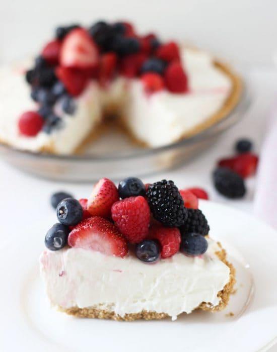 White Chocolate Cheesecake Pie