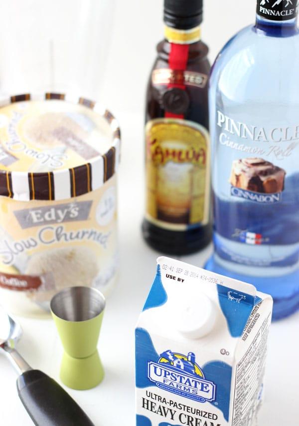 Cinnabon Coffee Milkshake - Cinnabon vodka with coffee liqueur and coffee ice cream makes this shake irresistible!