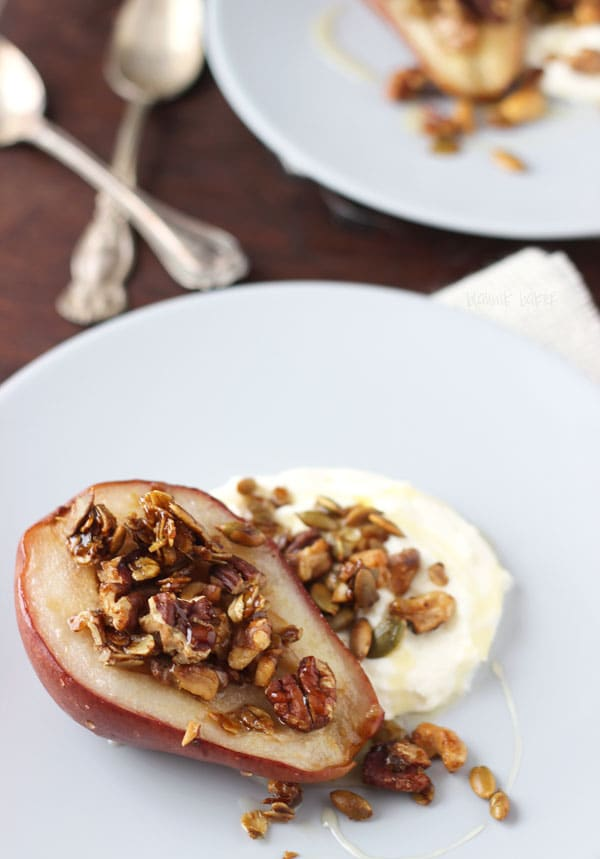 Roasted Pears with Oat Crumble