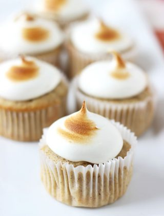 Spiced Apple Cupcakes with Maple Marshmallow Frosting