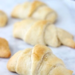 Caramelized Apples with Goat Cheese Crescents