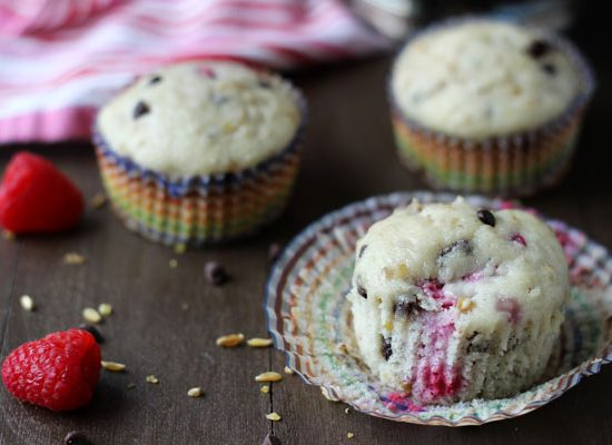 Raspberry Chocolate Freekeh Muffins