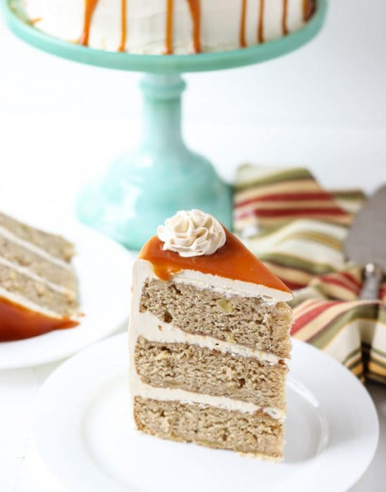Spiced Apple Cake with Salted Caramel Frosting