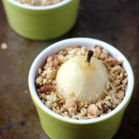 Spiced Poached Pear Crumble