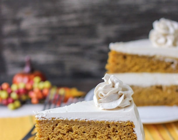Spiced Pumpkin Cake with Brown Sugar Frosting