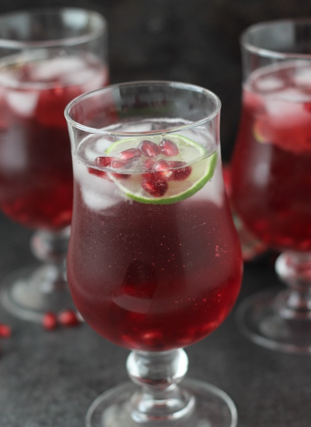 Ring in the holiday season with these sweet and bubbly pomegranate sparklers!