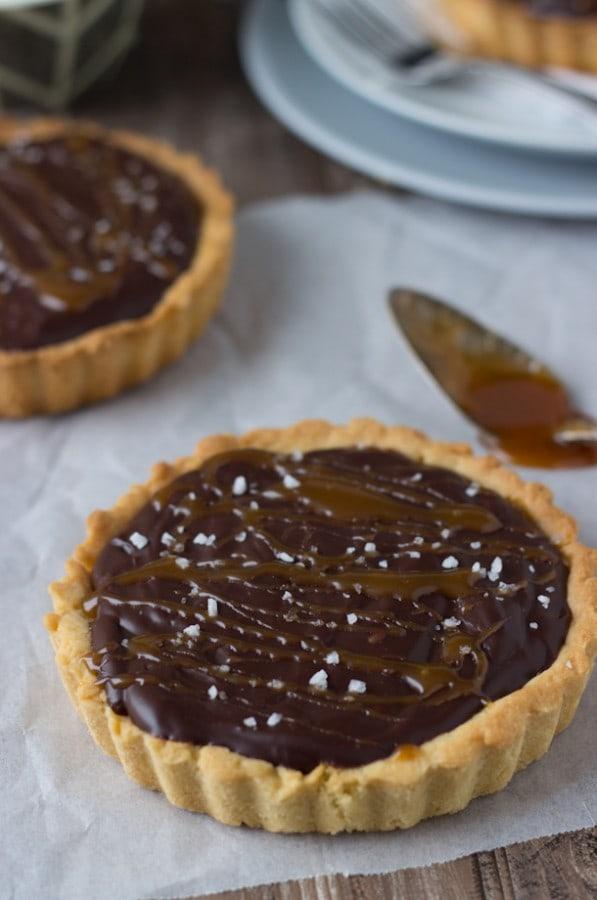 Caramelized Dark Chocolate Tart