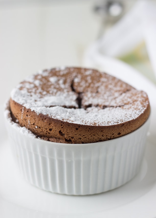 Chocolate Almond Souffle - a classic french dessert made easy!