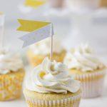 Meyer Lemon Rosemary Cupcakes