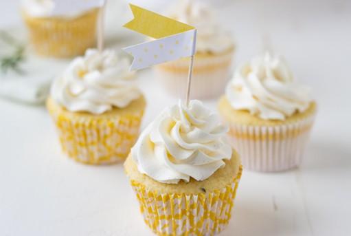 Meyer Lemon Rosemary Cupcakes hero-sized-1
